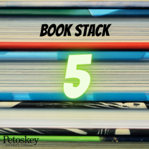 a stack of books with the number 5 and BOOK STACK at the top
